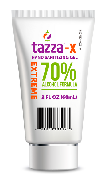 Tazza® 70% Alcohol-Based Hand 2oz Sanitizing Gel (20 Tubes per box, 8 Boxes per Case, 160 total)