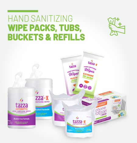 Hand Sanitizing/ Surface Cleaning Wipe Packs & Tubs starting from 4.7 cents/wipe
