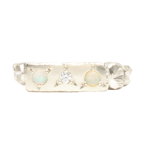 Opal & Diamond Plains Ring