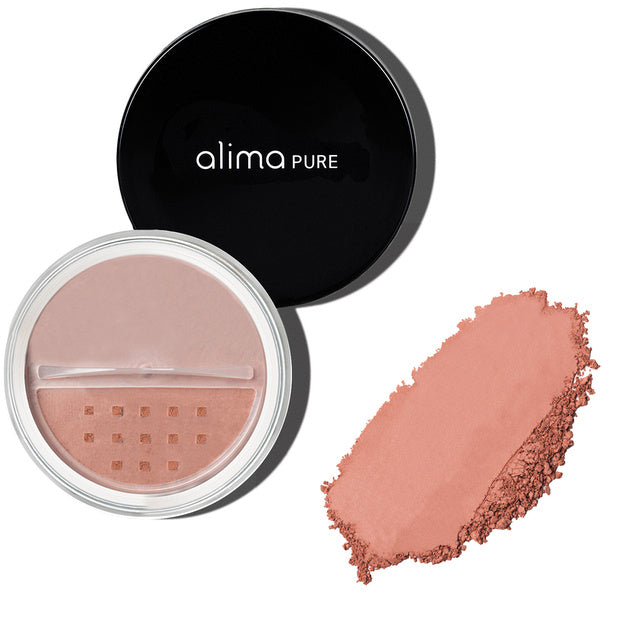 ALIMA PURE Satin Matte Blush -Mattainen Poskipuna Honey Rose 4,5g