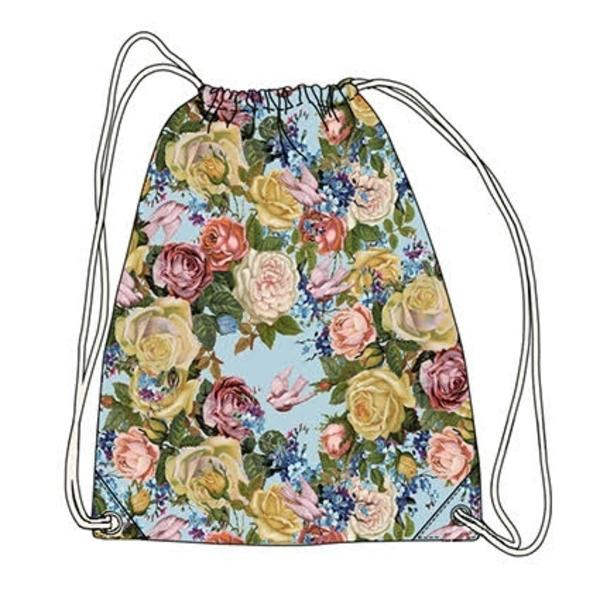 Drawstring Tote - Unicorn and Roses