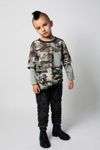 Relaxed Fit Long Sleeve T-shirt - Extra Camo