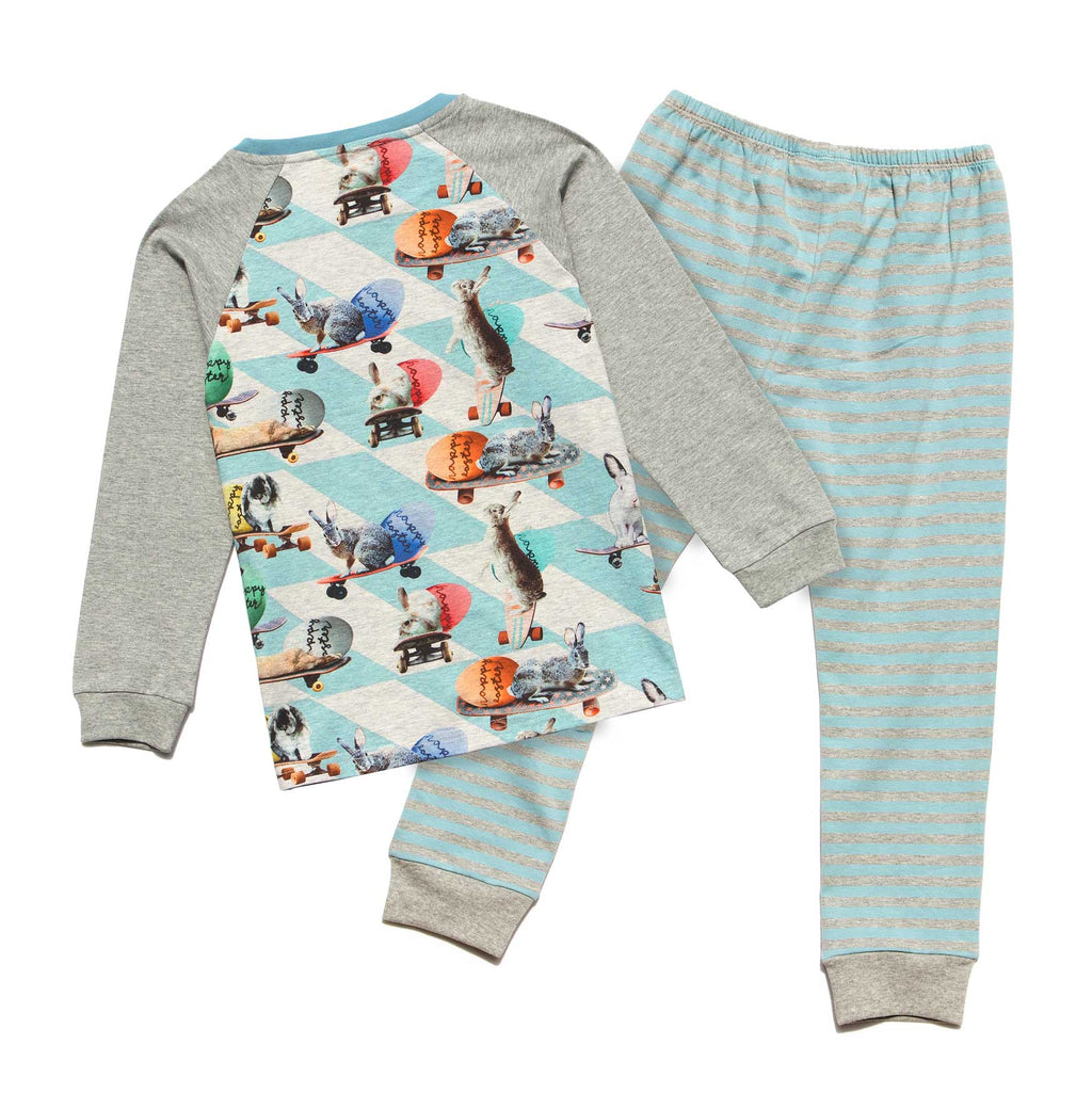 Long Sleeve PJ Set - Board Bunny