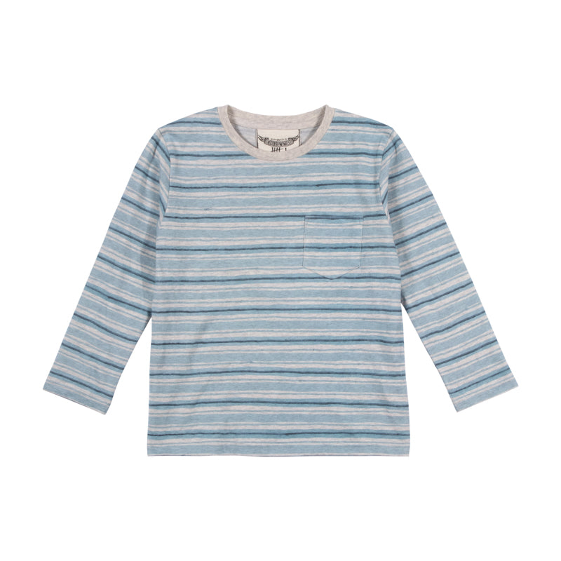 Classic Long Sleeve T-shirt - Blue Texta Stripe
