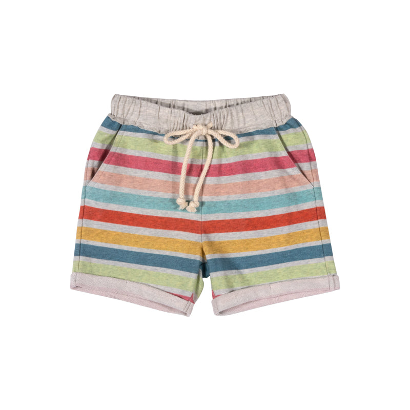 Cuff Track Shorts - Coloured Stripe
