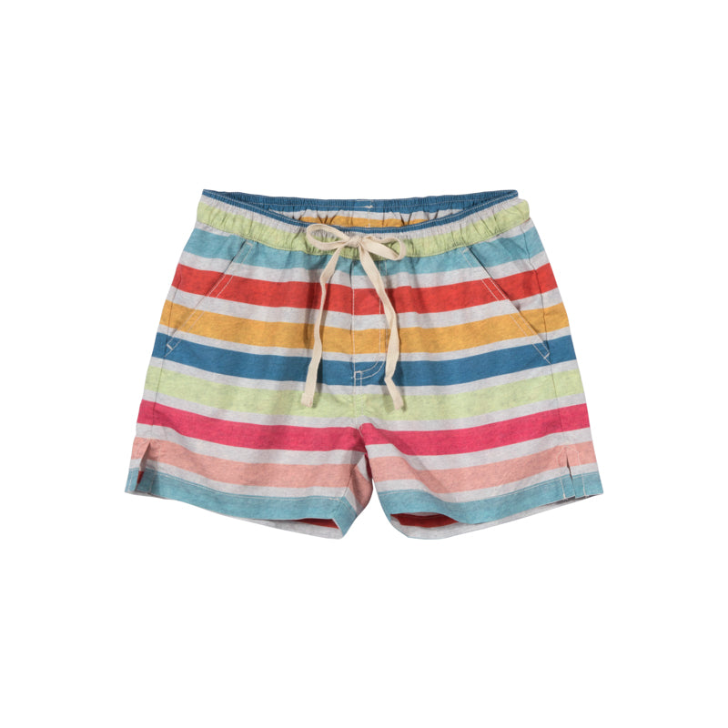 Short Boardshorts - Coloured Stripe