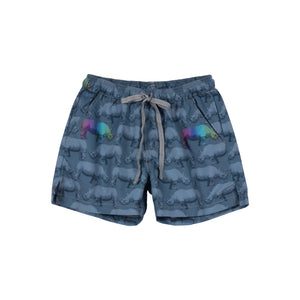 Short Boardshorts - Rainbow Rhino