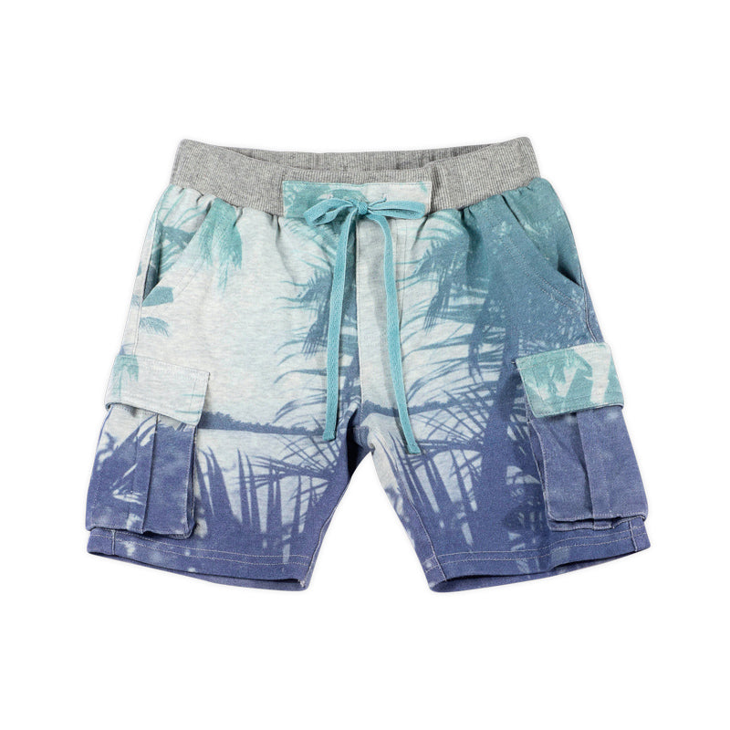 French Terry Cargo Shorts - Palms