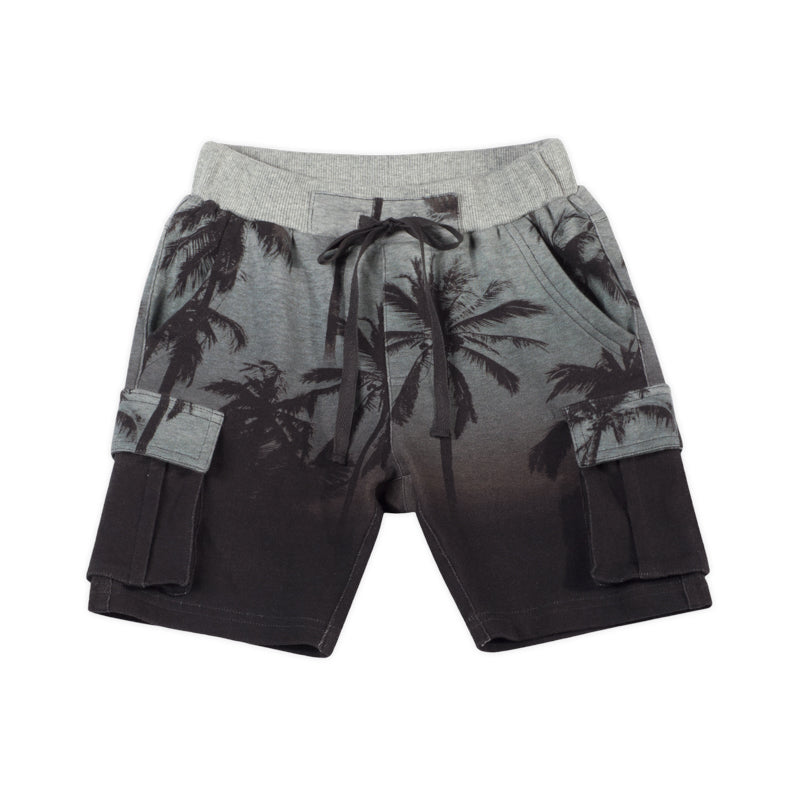 Cuff Shorts - Night Palms