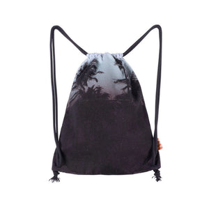 Drawstring Tote - Rainbow Bat