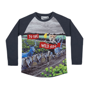 Long Sleeve Raglan T-shirt - Wild Side