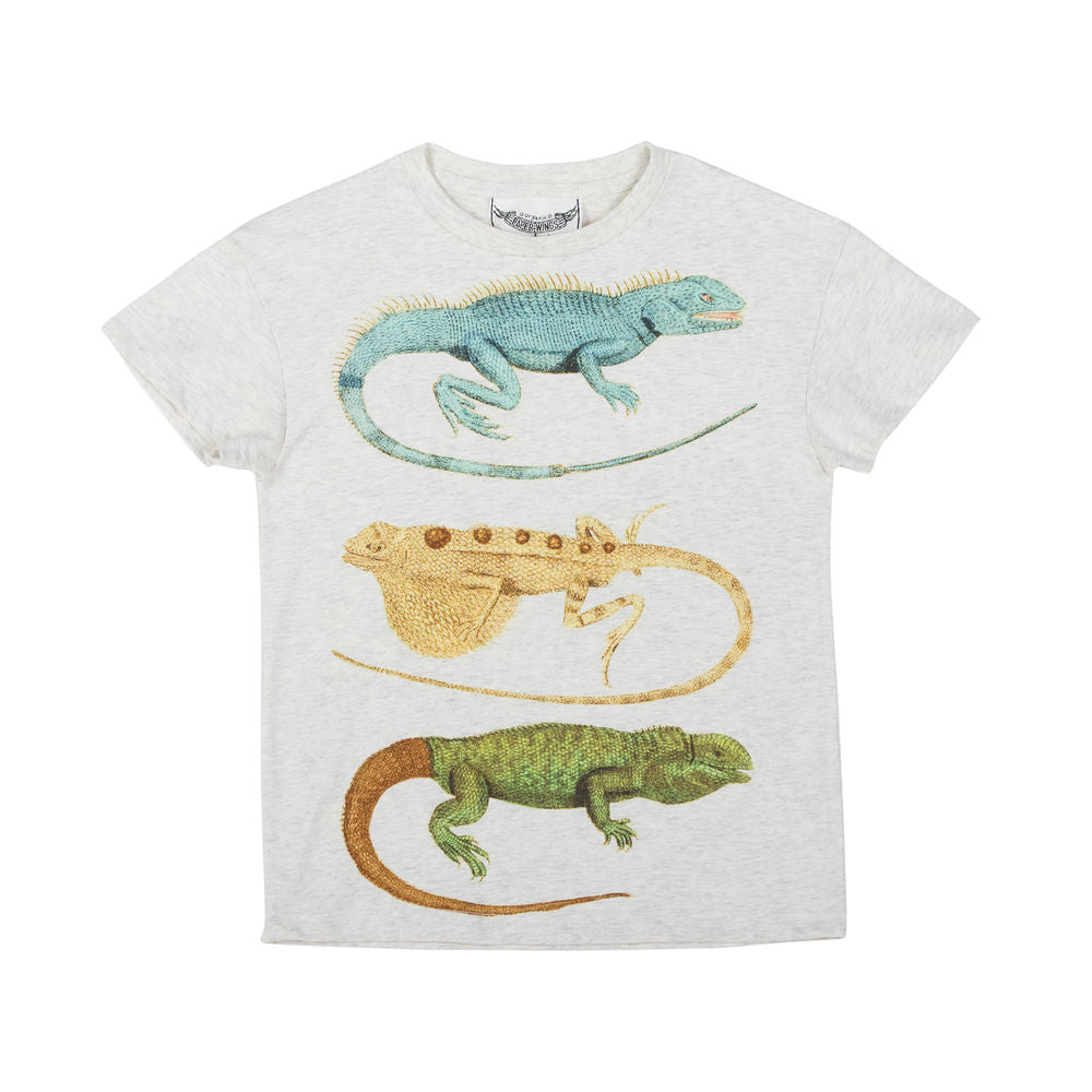 Drop Shoulder T-shirt - Lizards