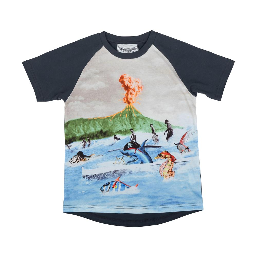 Raglan T-shirt - Surf and Turf
