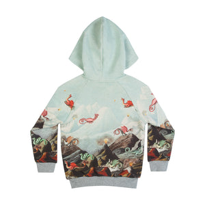 Reversible Raglan Hoodie - Monster Mountain