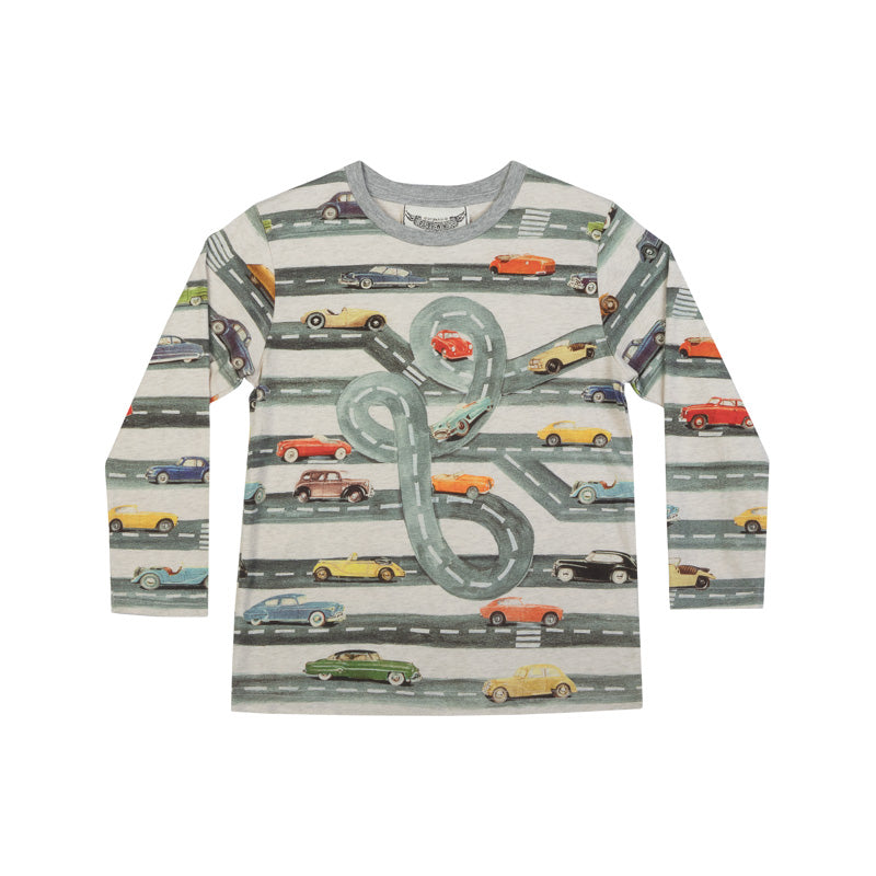 Classic Long Sleeve T-shirt - Vintage Highway
