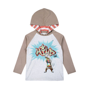 Hooded Raglan T-Shirt - Be Wild
