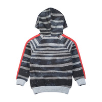 Hooded Sweater - Rough Stripe