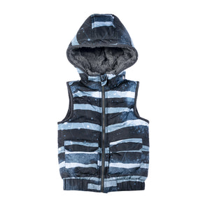 Puffer Vest - Rough Stripe