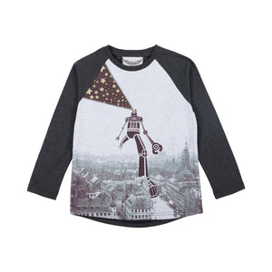 Long Sleeve Raglan T-Shirt - Giant Robot