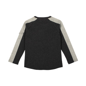 Long Sleeve Raglan T-shirt with Sleeve Pocket - Highest Flyer