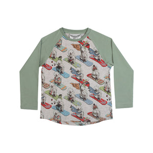Long Sleeve Raglan T-shirt - Nutters