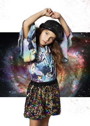 Bell Sleeve T-Shirt - Girls in Space