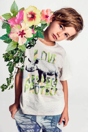Classic T-shirt - Love Respect Protect Rhino