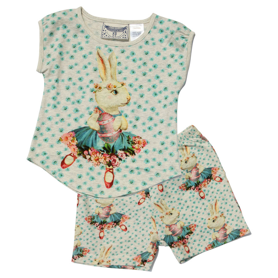 Tank and Shorts - Easter Ballet Bunny