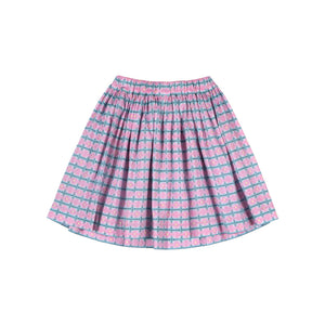 Gathered Skirt - Heart Texta Weave