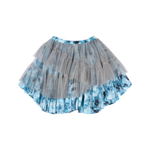 Frilled Skirt - Vintage Blue Roses