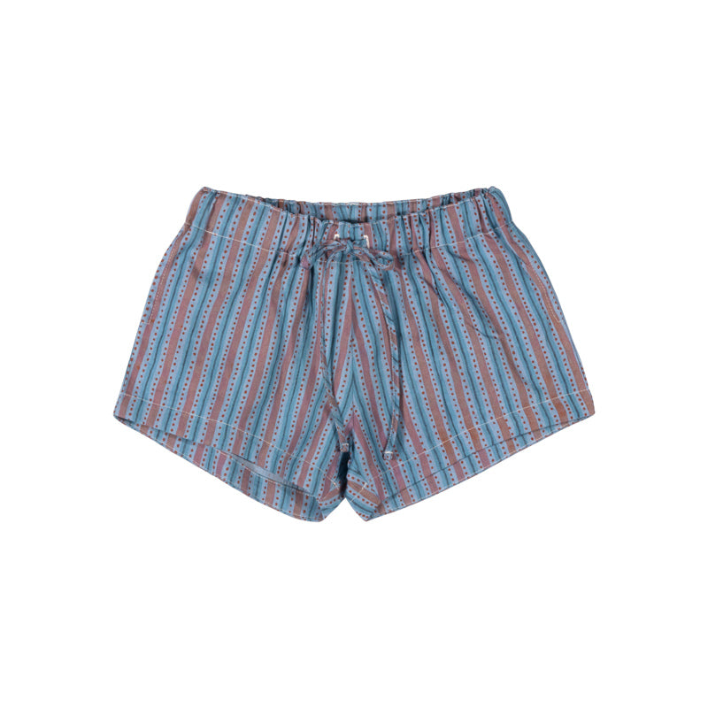Chambray Shorts - Texta Stripe Vertical Red