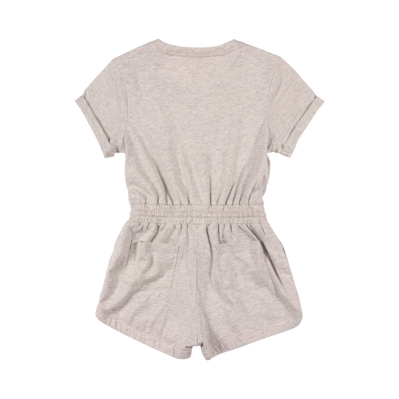 Romper with Cuffs - Heart Swan