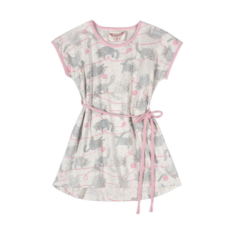 Tee Dress with Plaited Belt - Yarn Kitty