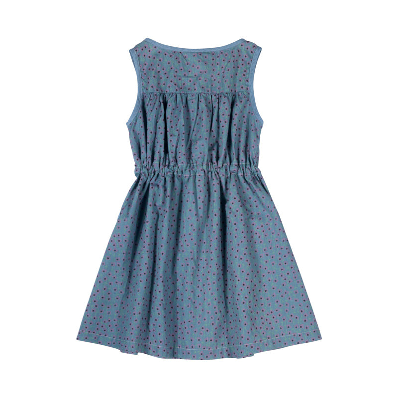 Drawstring Shift Dress - Flower Spots