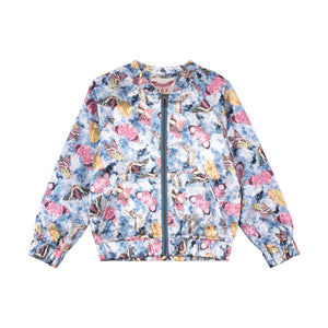 Satin Bomber - Vintage Butterfly Roses
