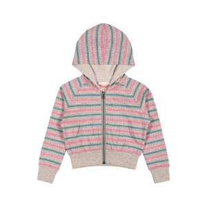 Light Weight Hoodie - Texta Stripe with Spots
