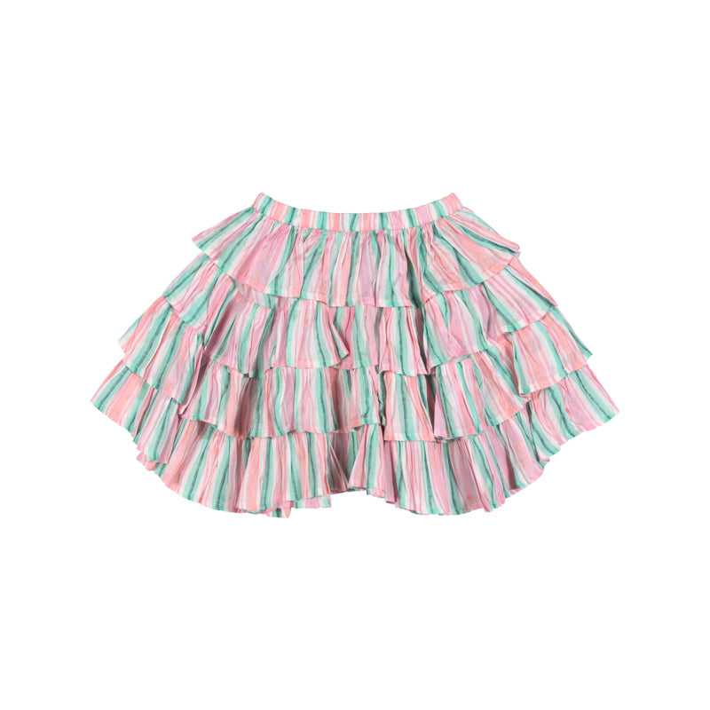 Frilled Skirt - Vertical Texta Stripe