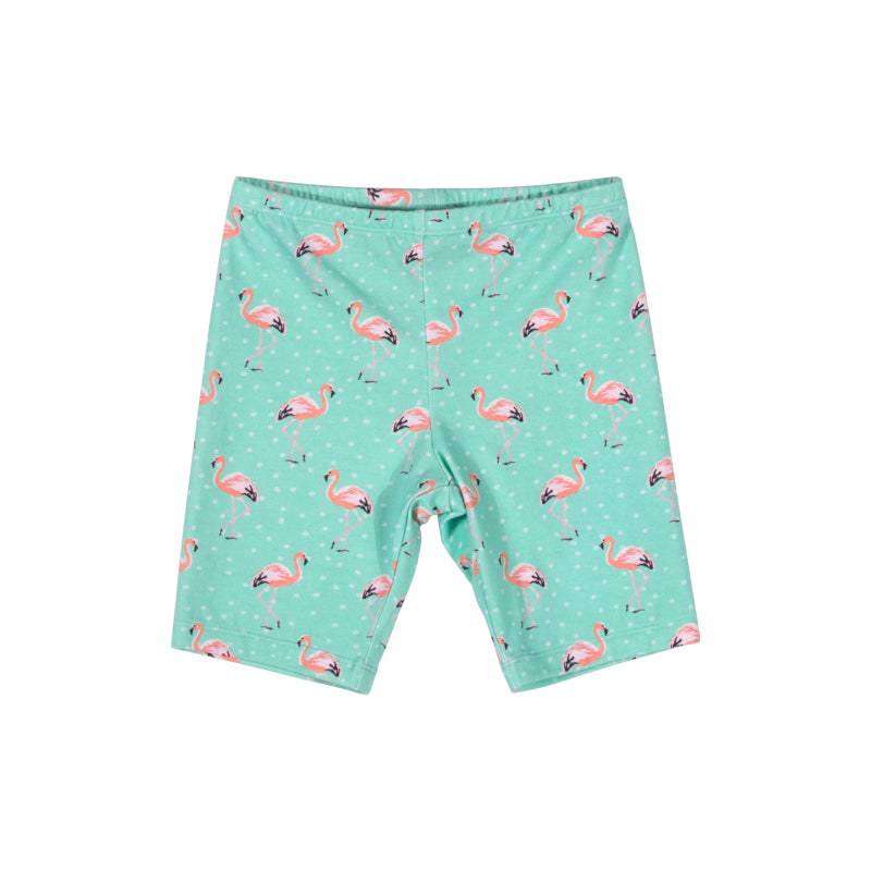 Short Leggings - Flamingo Spot