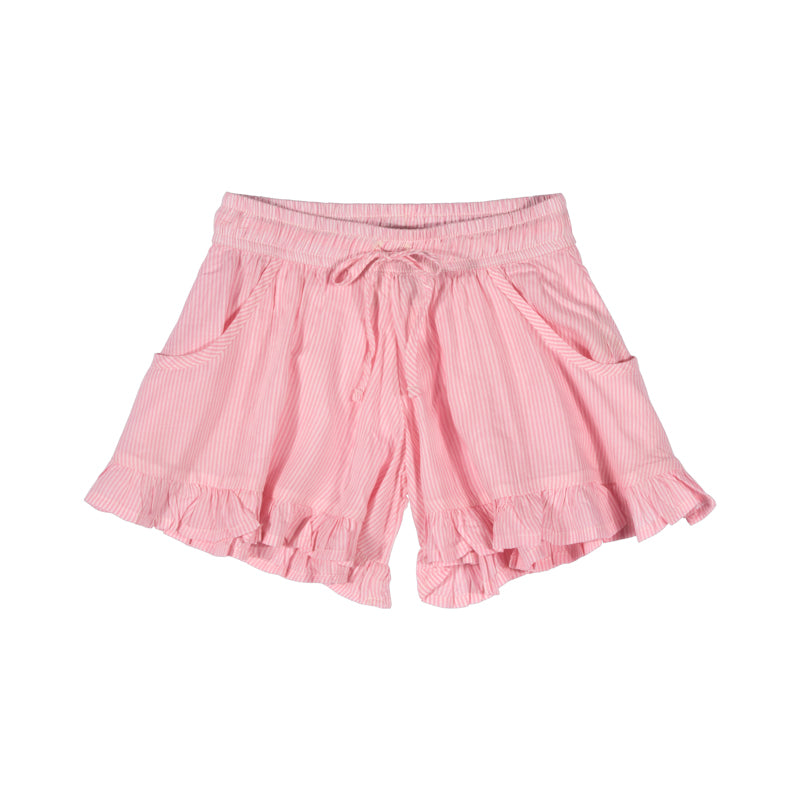 Frilled Shorts - Pink stripe