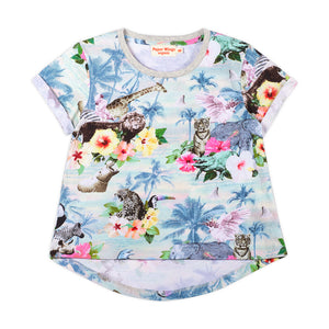 Cuff T-shirt - Hawaiian Print