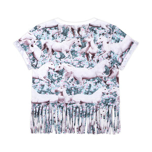 Frilled Cropped T-shirt - Dream Field