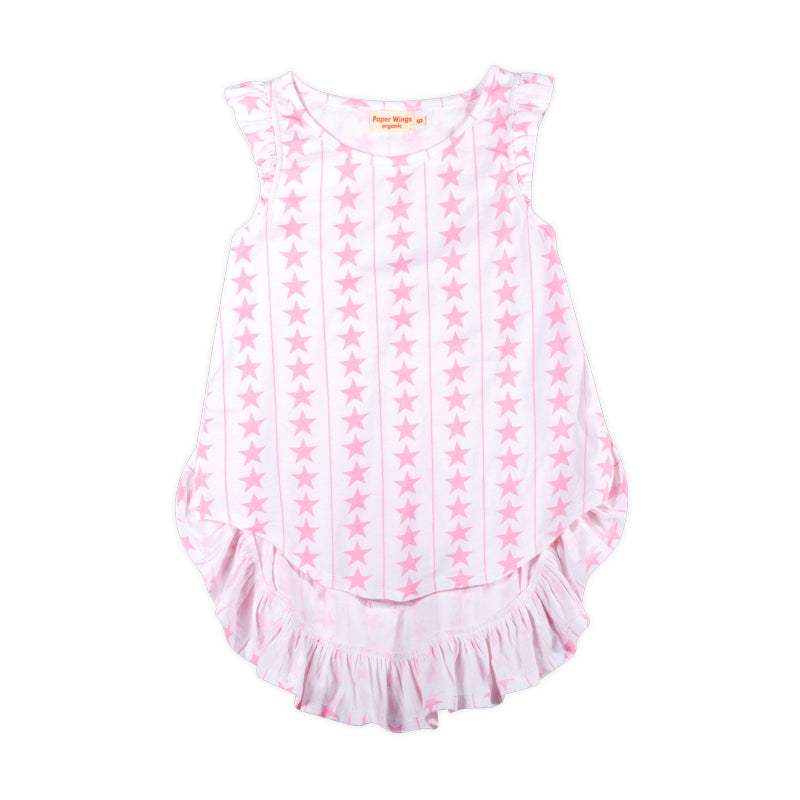 Frilled Bustle Singlet - Stars and Stripes Pink