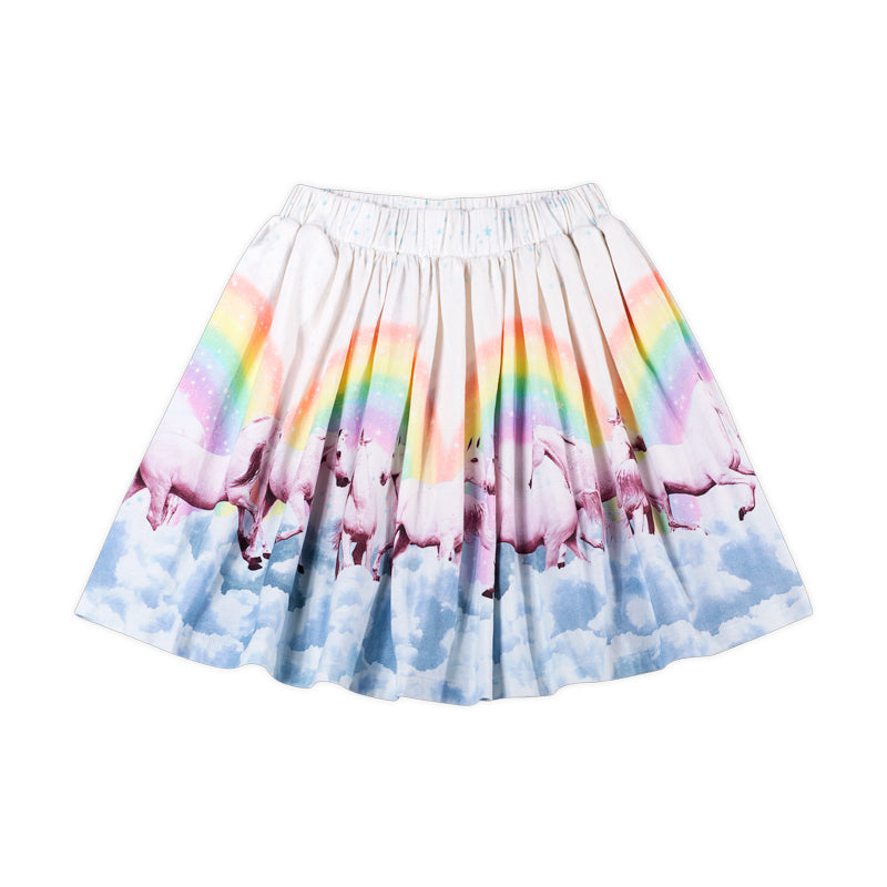 Gathered Skirt - Rainbow Horses