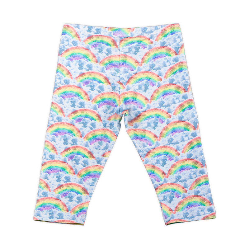 3/4 legging - Rainbow Clouds