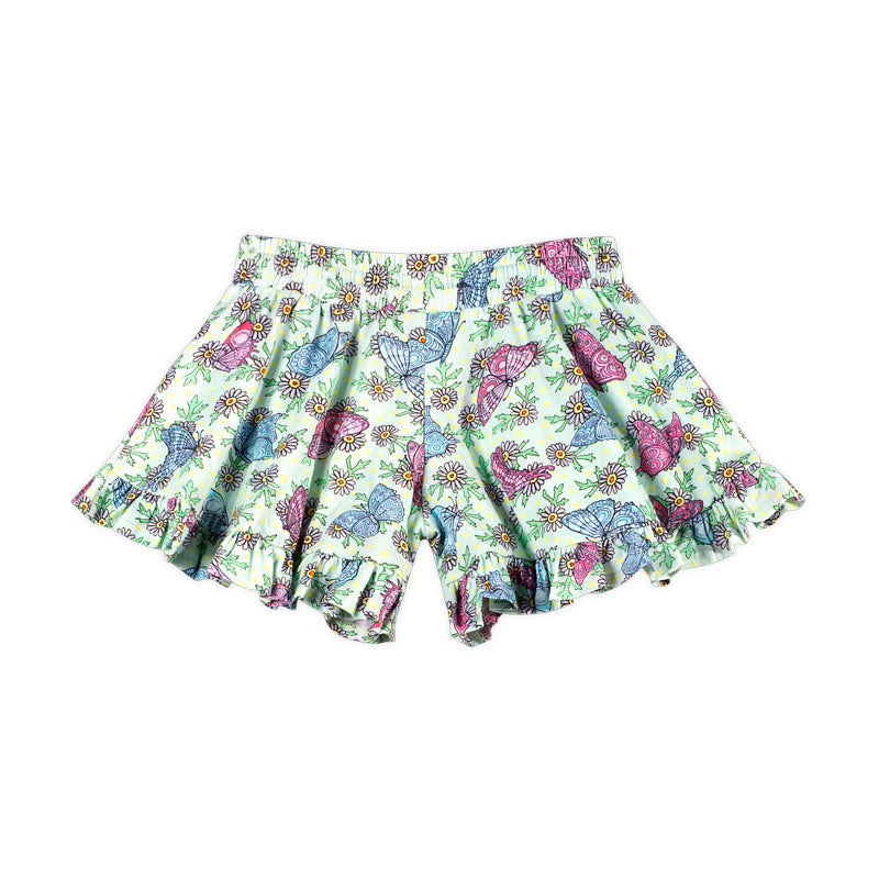 Frilled Shorts - Butterfly Daisies