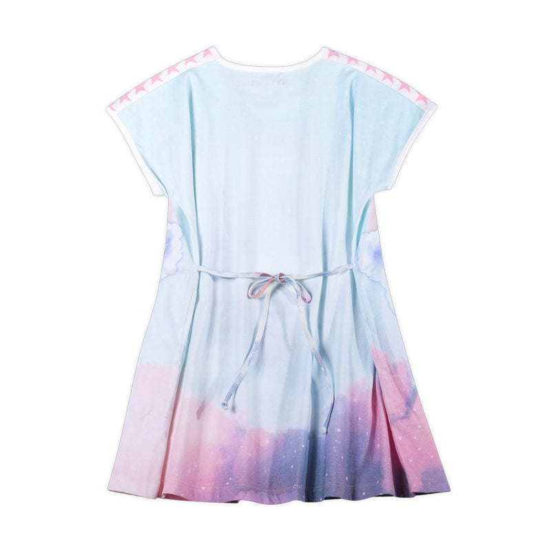 Flared T-shirt Dress - Unicorn Cloud