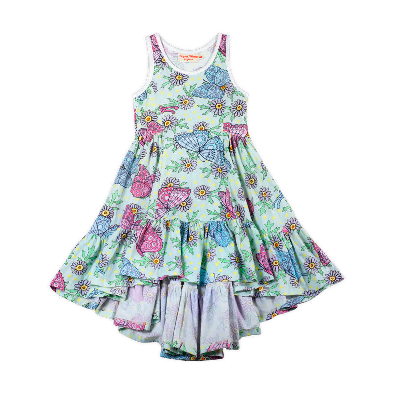 Bustle Singlet Dress - Butterfly Daisies