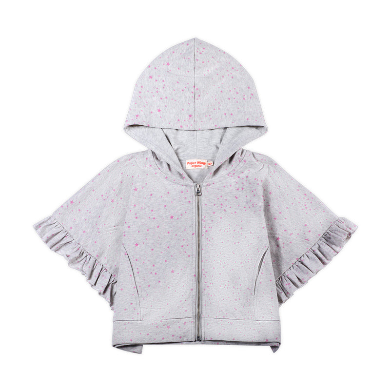 Oversized Frilled Hoodie - Star Butterfly
