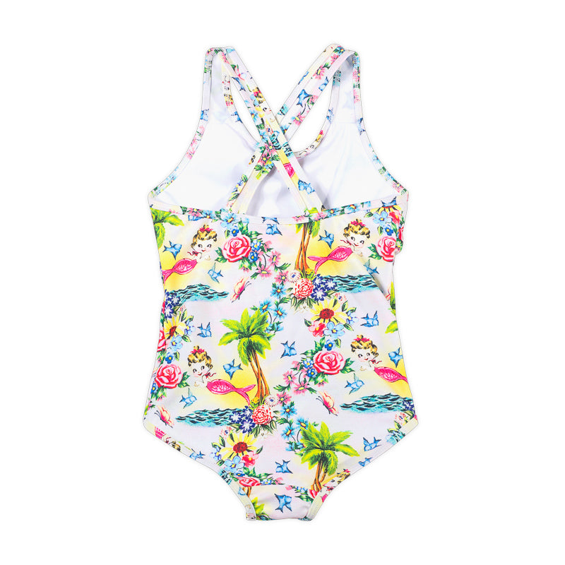 Classic X over Swimsuit  - Tropical Mermaid