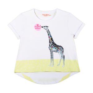 Cuff T-shirt -  Love Respect Protect Giraffe